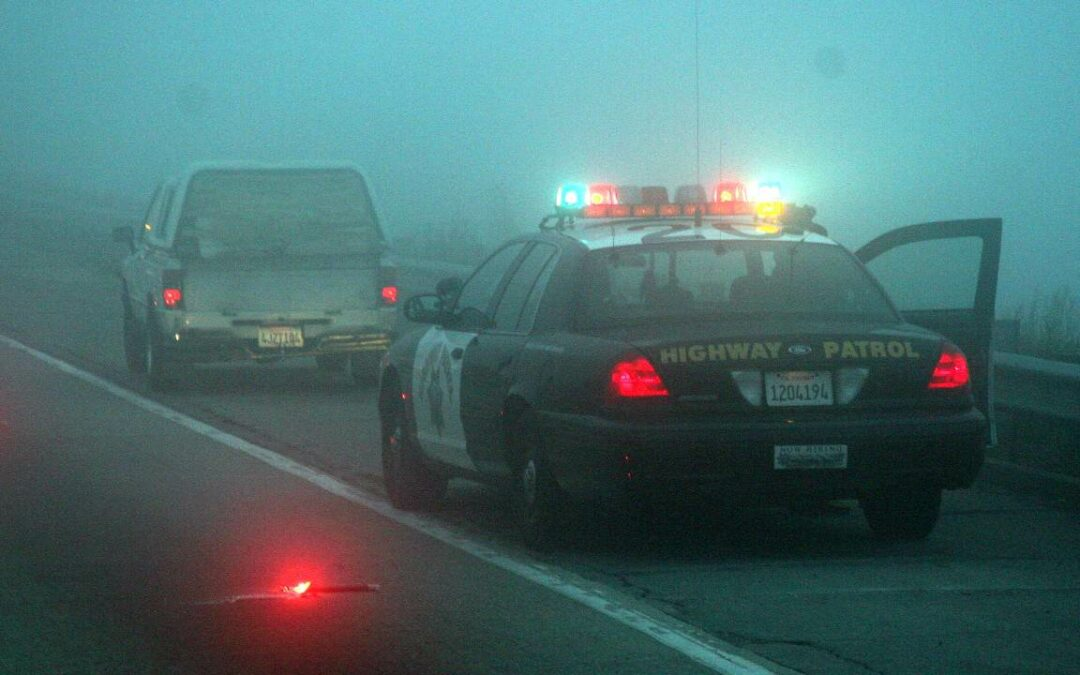 CHP Ford CVPI during traffic stop